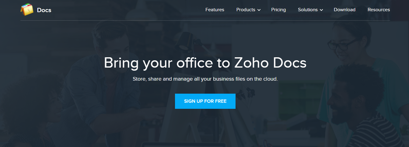 Zoho docs: Document collaboration tool