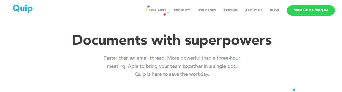 Quip: Document collaboration tool