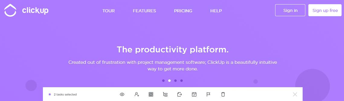 ClickUp app as trello alternative