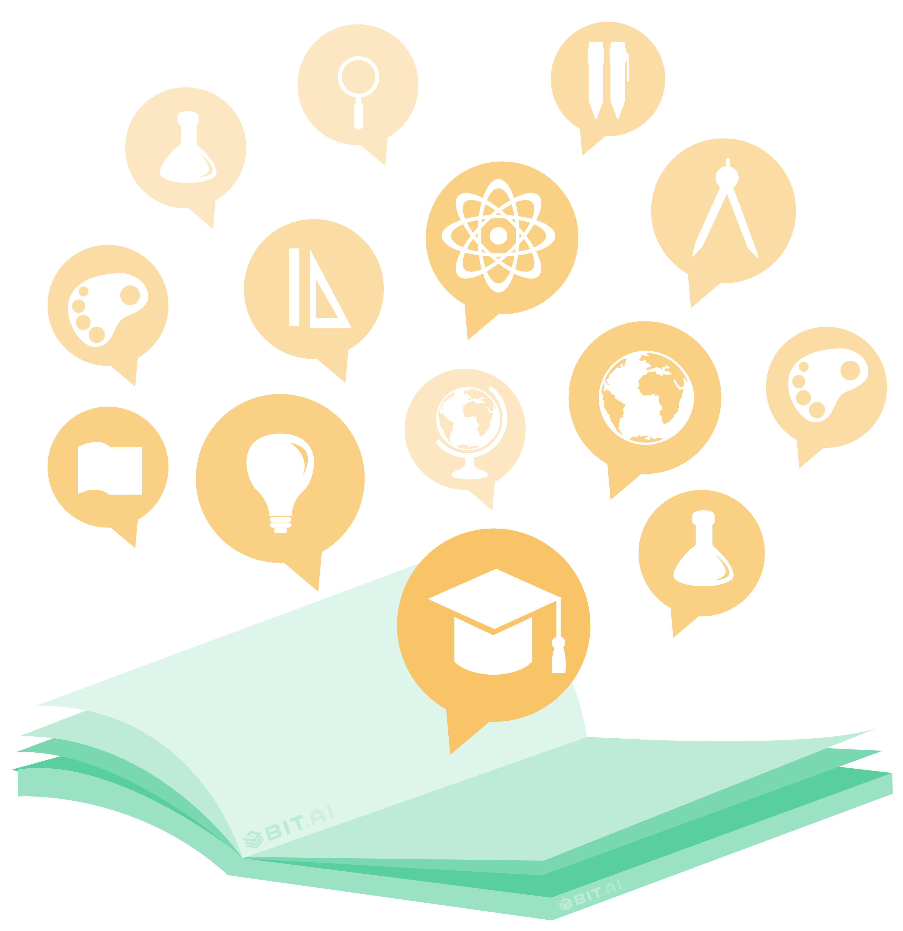 Knowledge booster icons