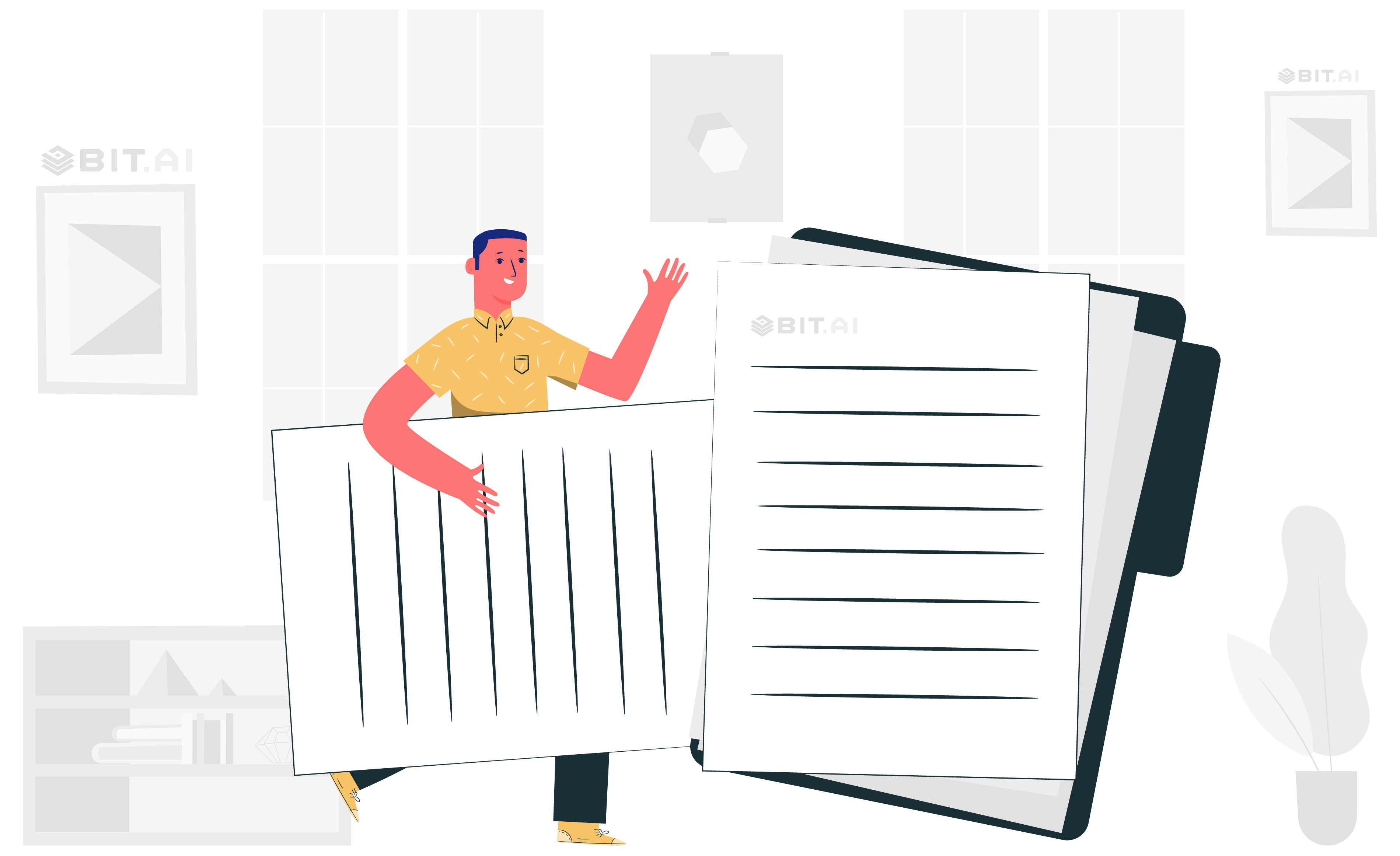 A man uploading documents in a software
