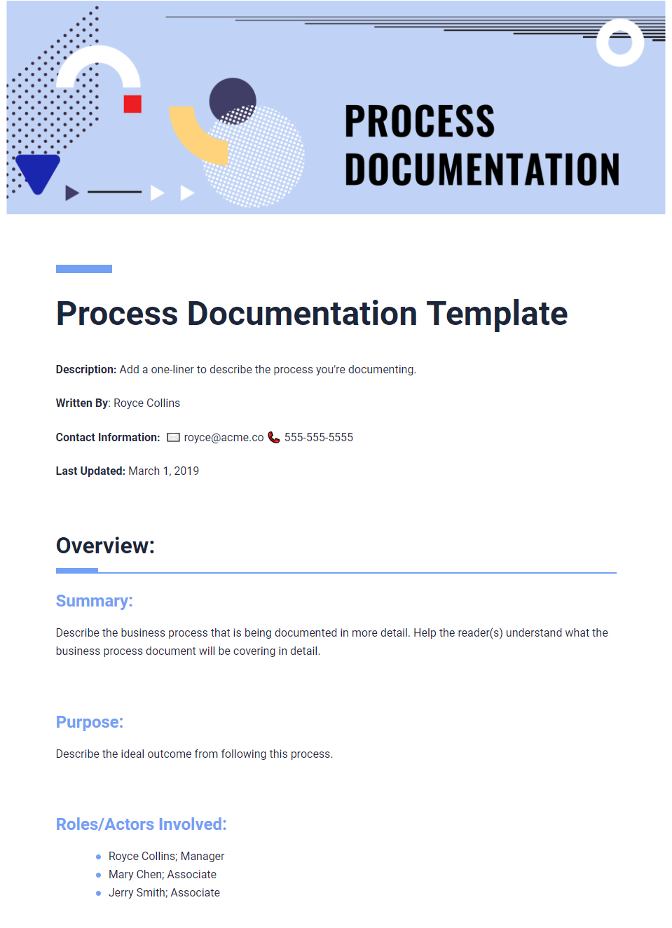 What Is Process Documentation Complete Guide With Template