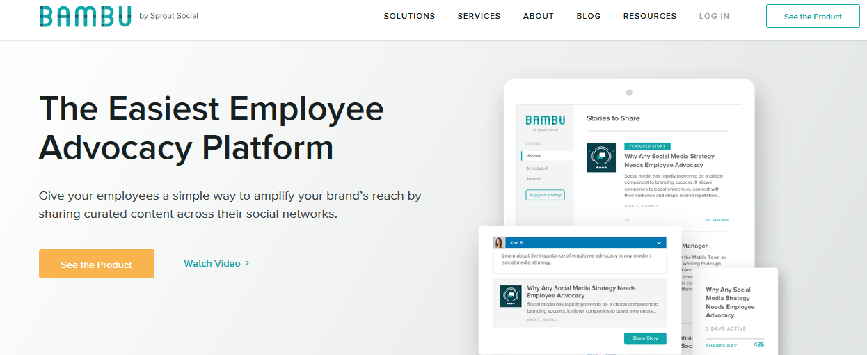 Bambu: Sales enablement tool