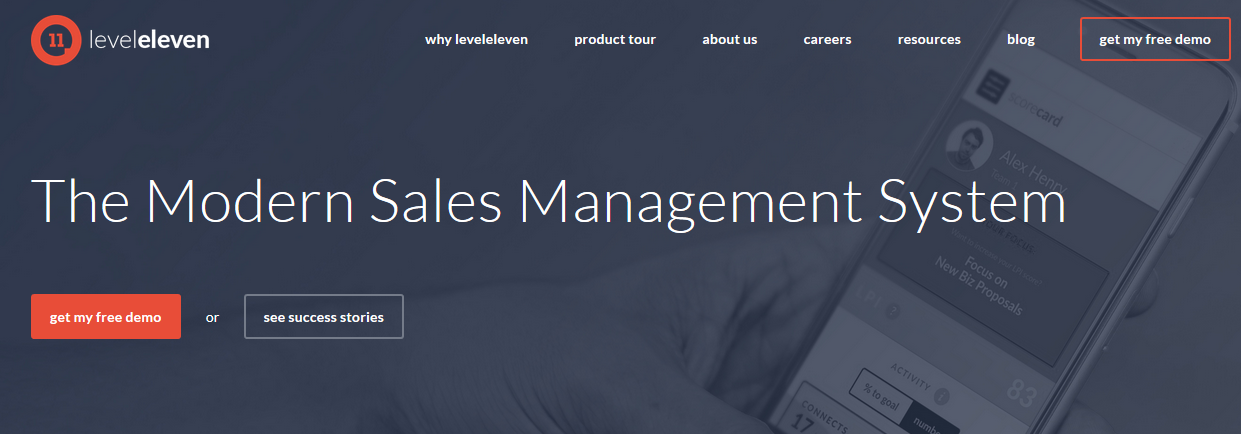 LevelEleven: Sales enablement tool