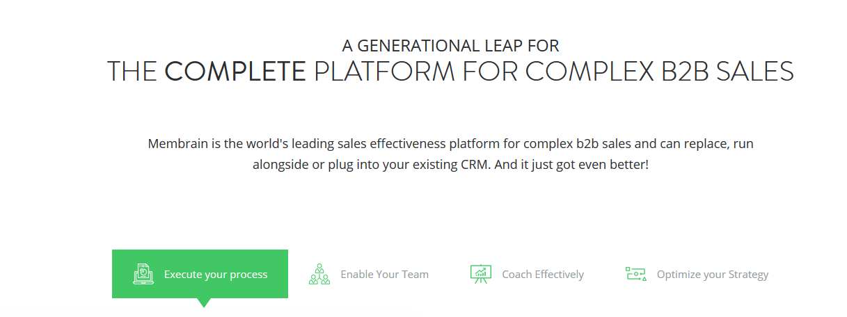 Membrain: Sales enablement tool