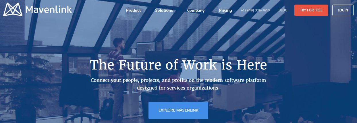 Mavenlink: Sales enablement tool