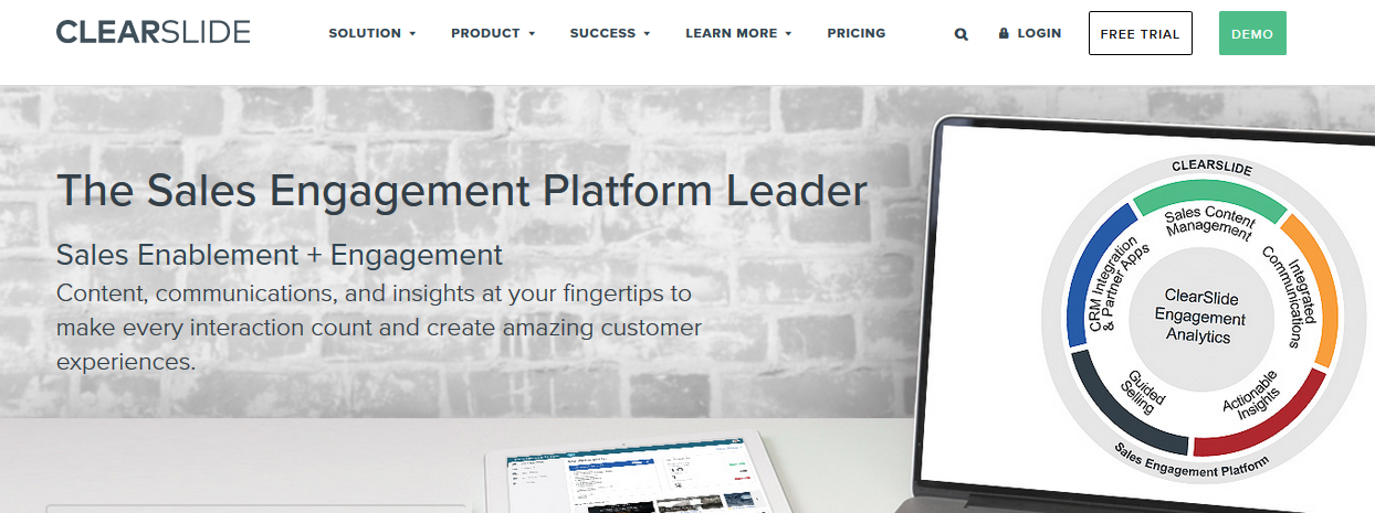 Clearslide: Sales enablement tool
