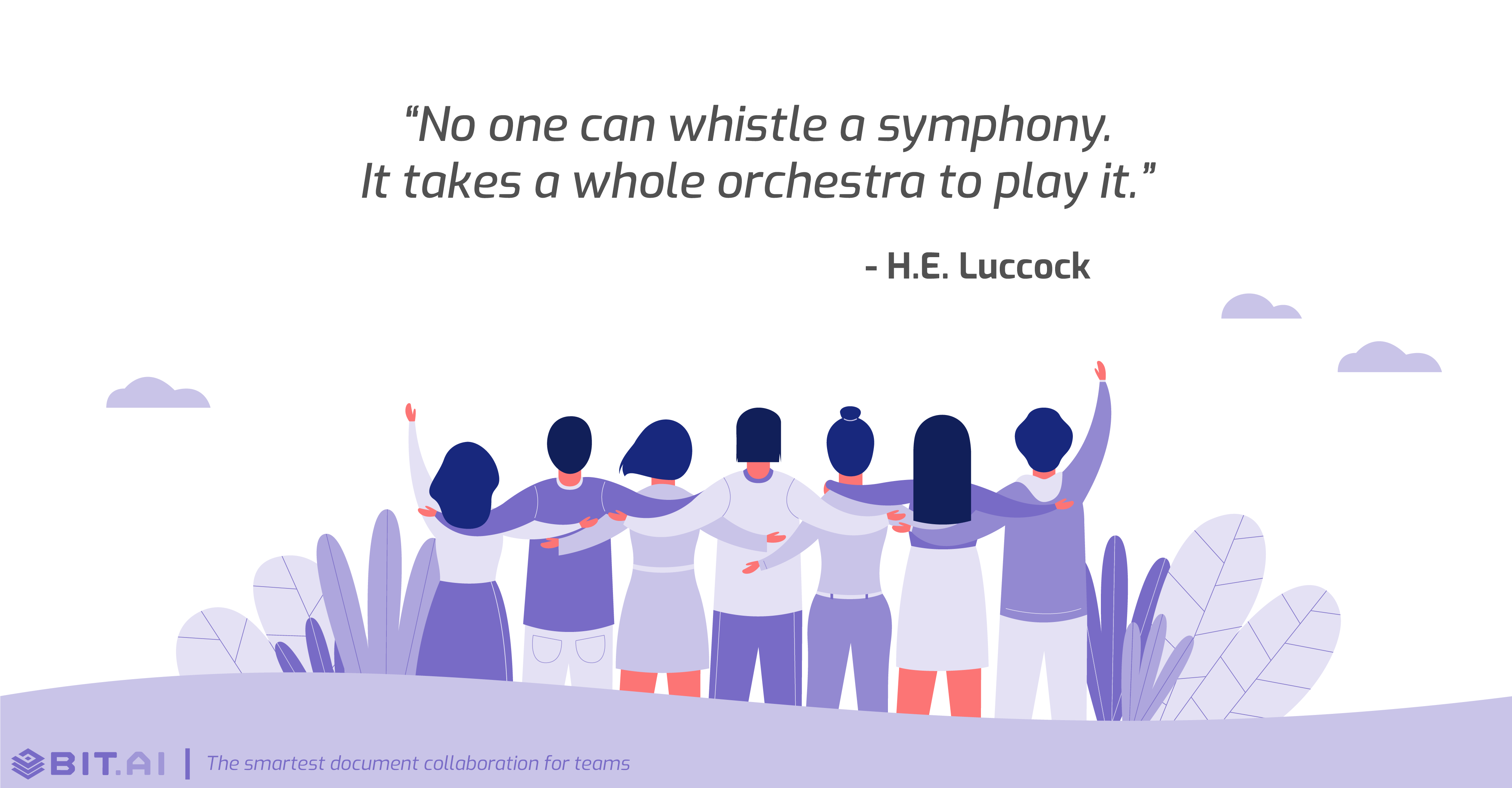 Teamwork collaboration quote by H.E. Luccock