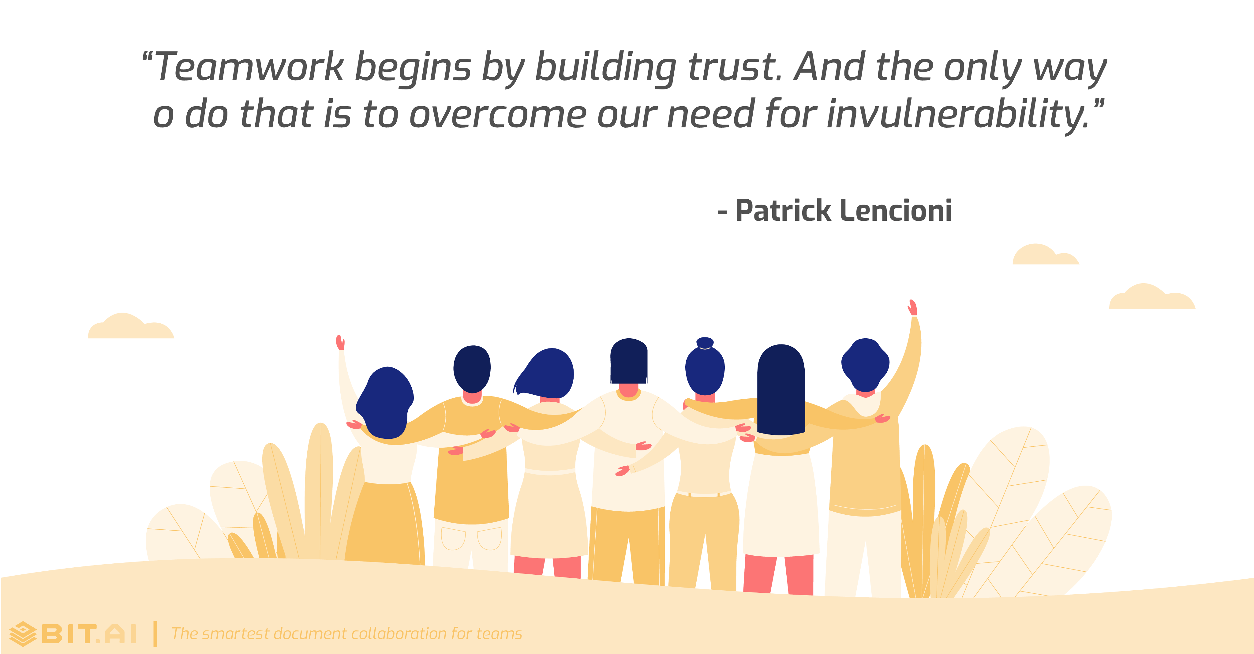Teamwork collaboration quote by Patrick Lencioni