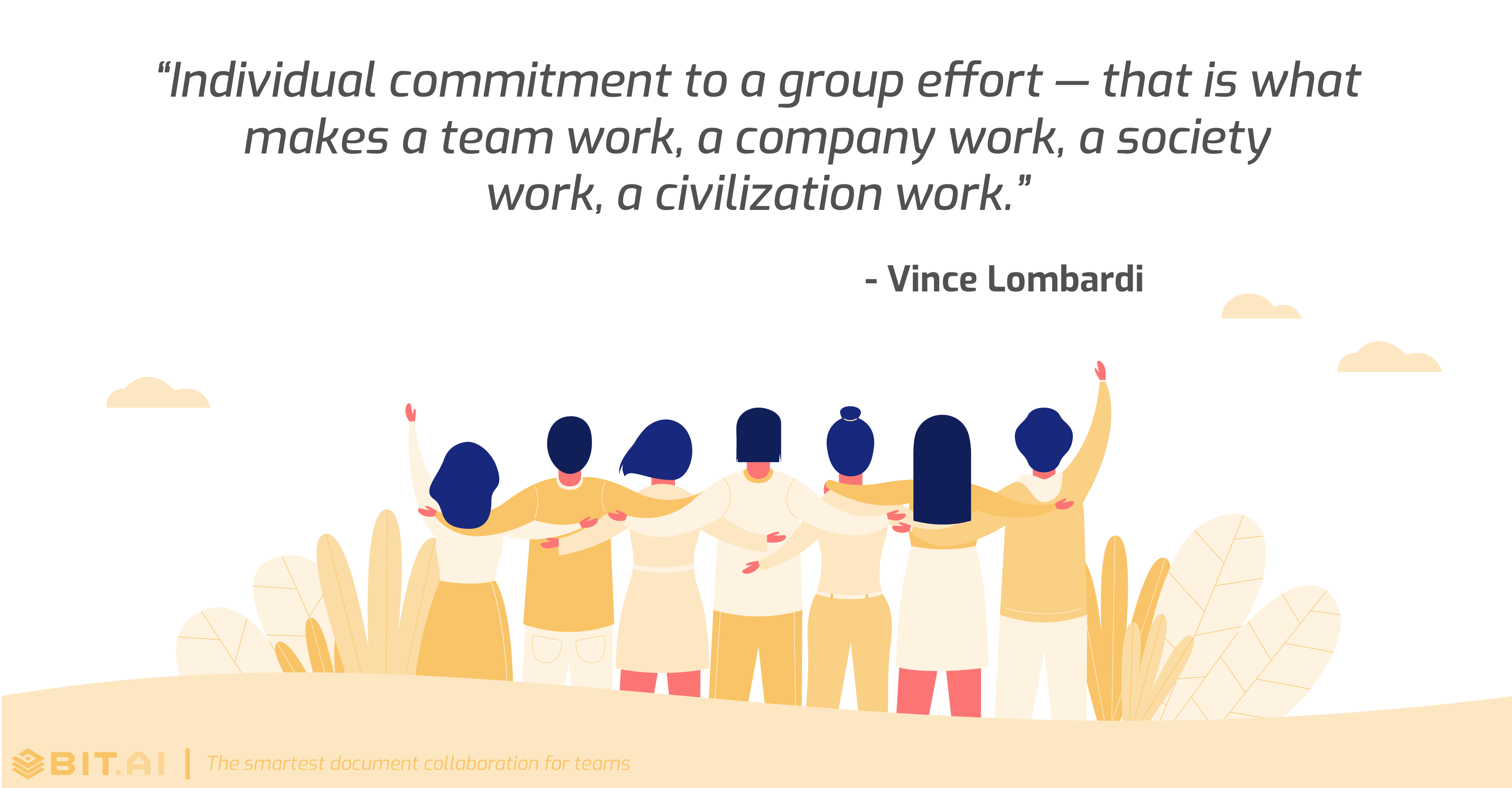 Teamwork collaboration quote by Vince Lombardi