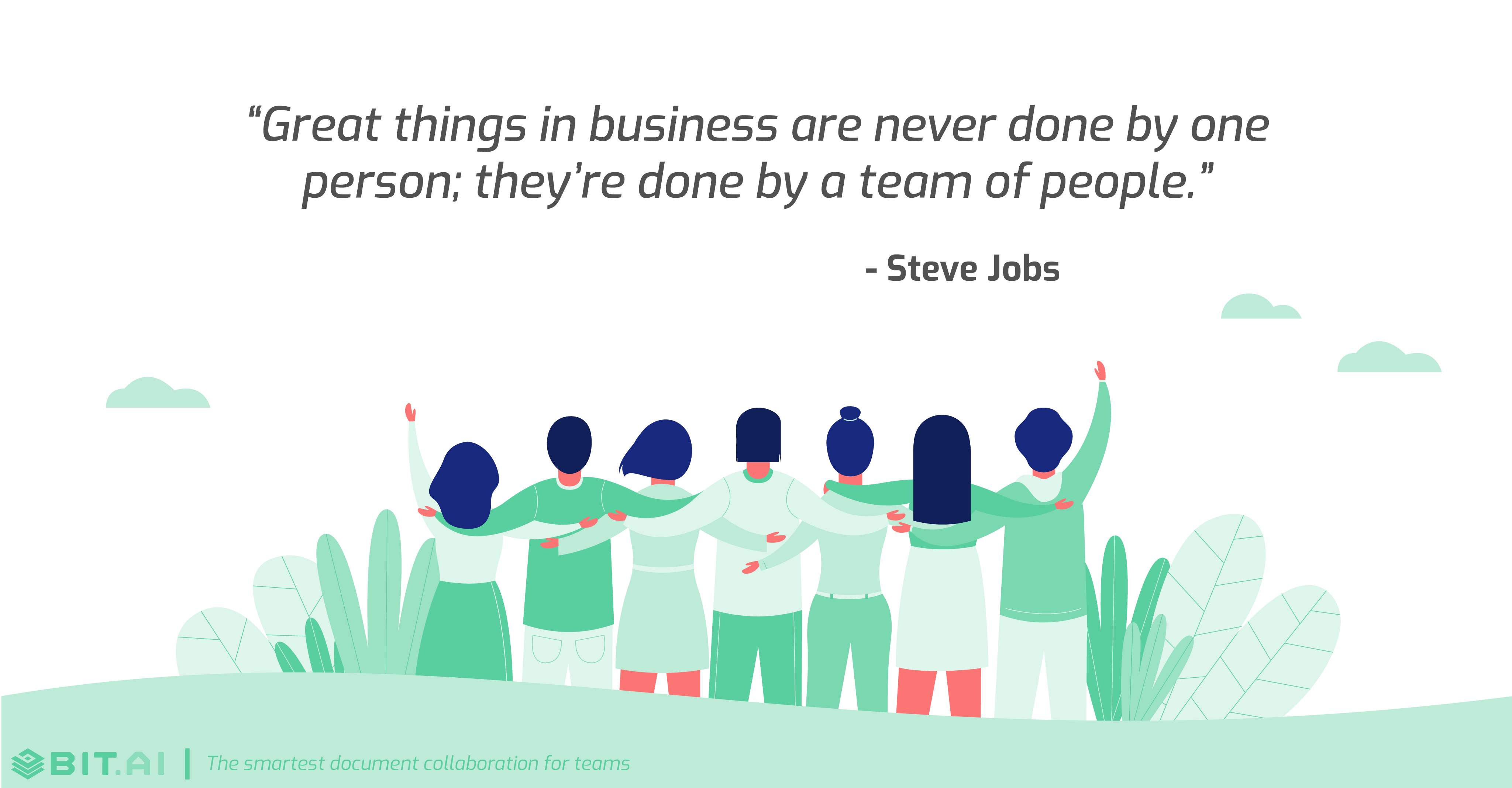 Teamwork collaboration quote by Steve Jobs