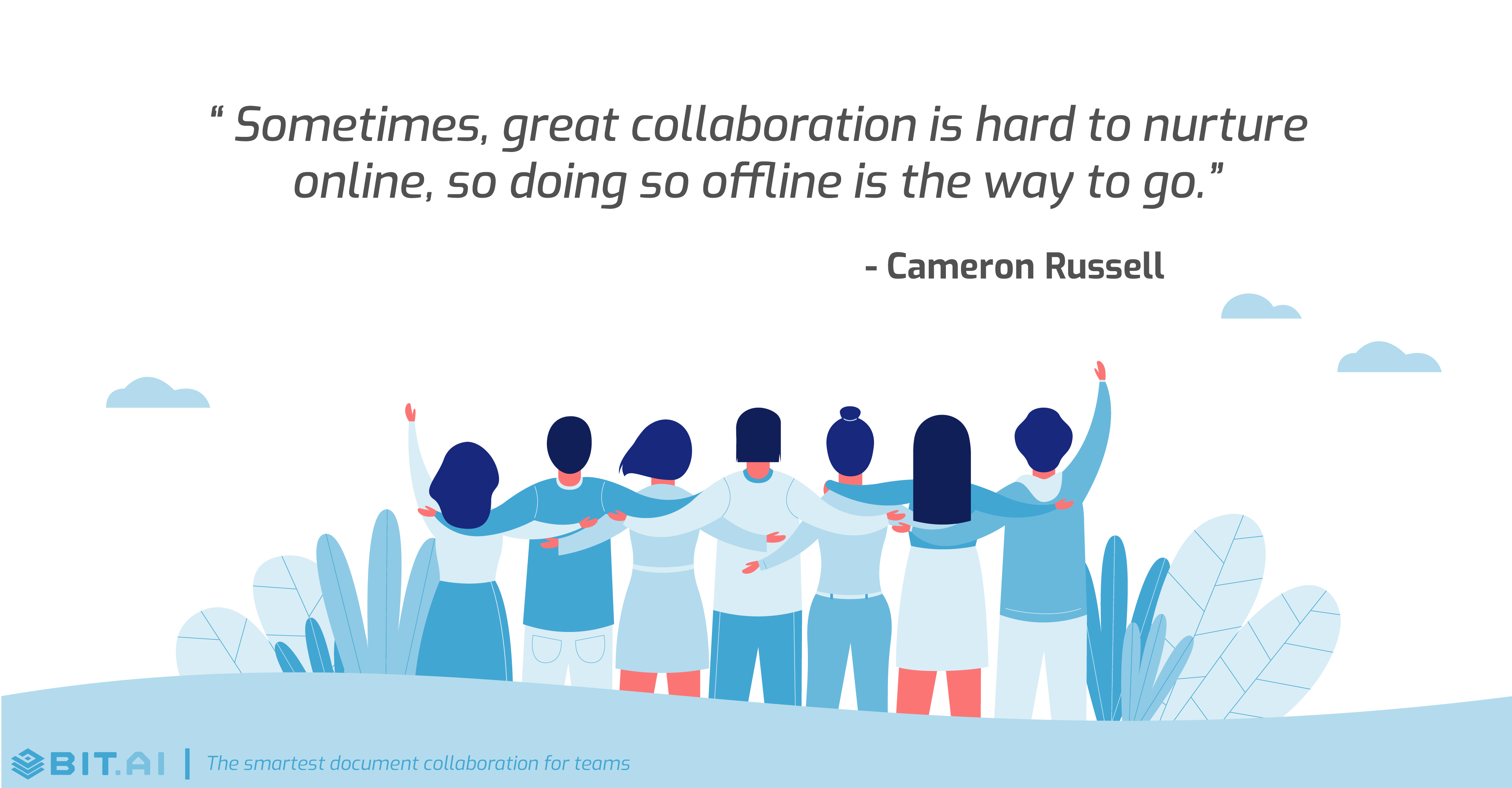 Teamwork collaboration quote by Cameron Russell