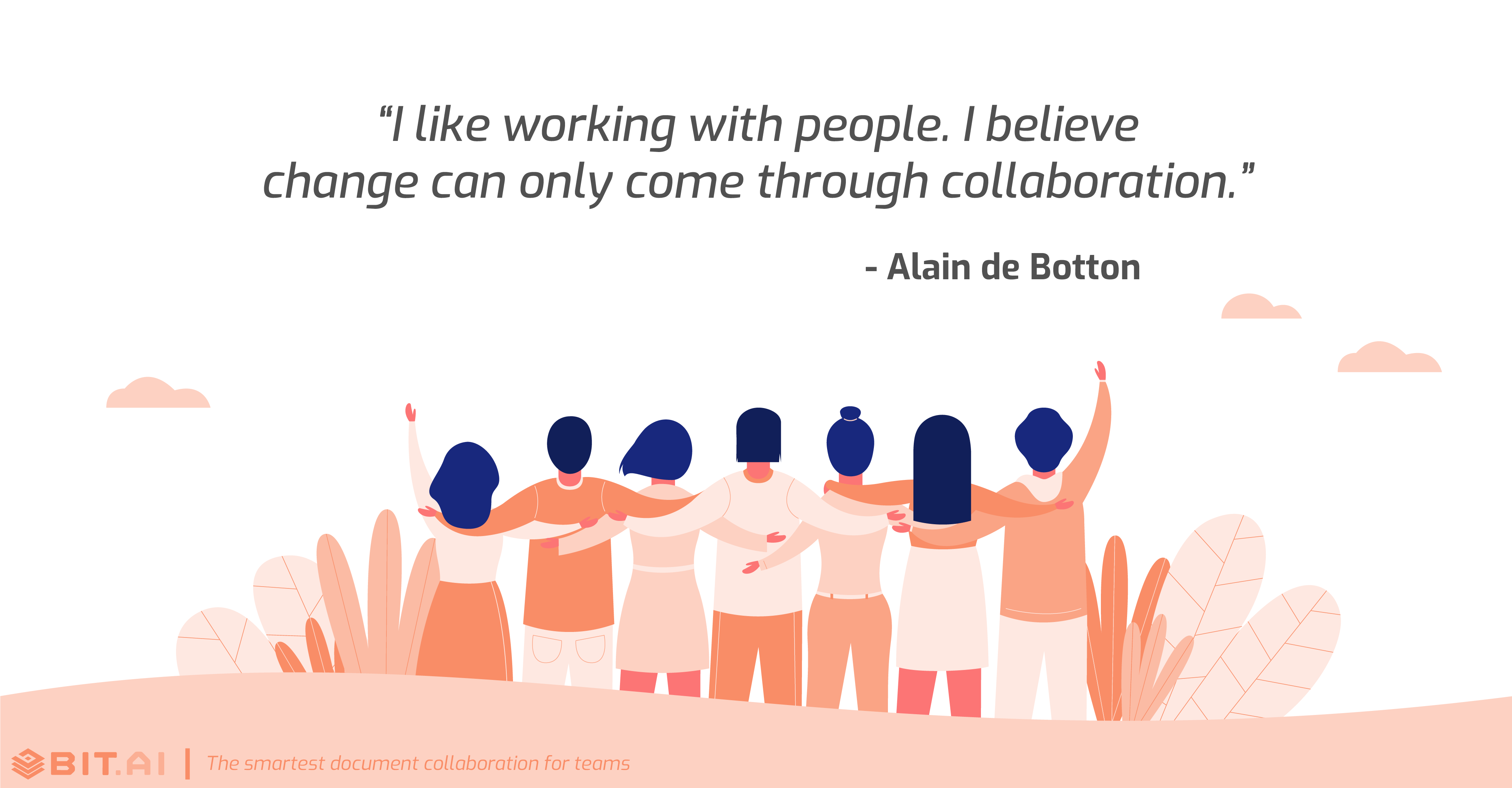 Teamwork collaboration quote by Alain de Botton