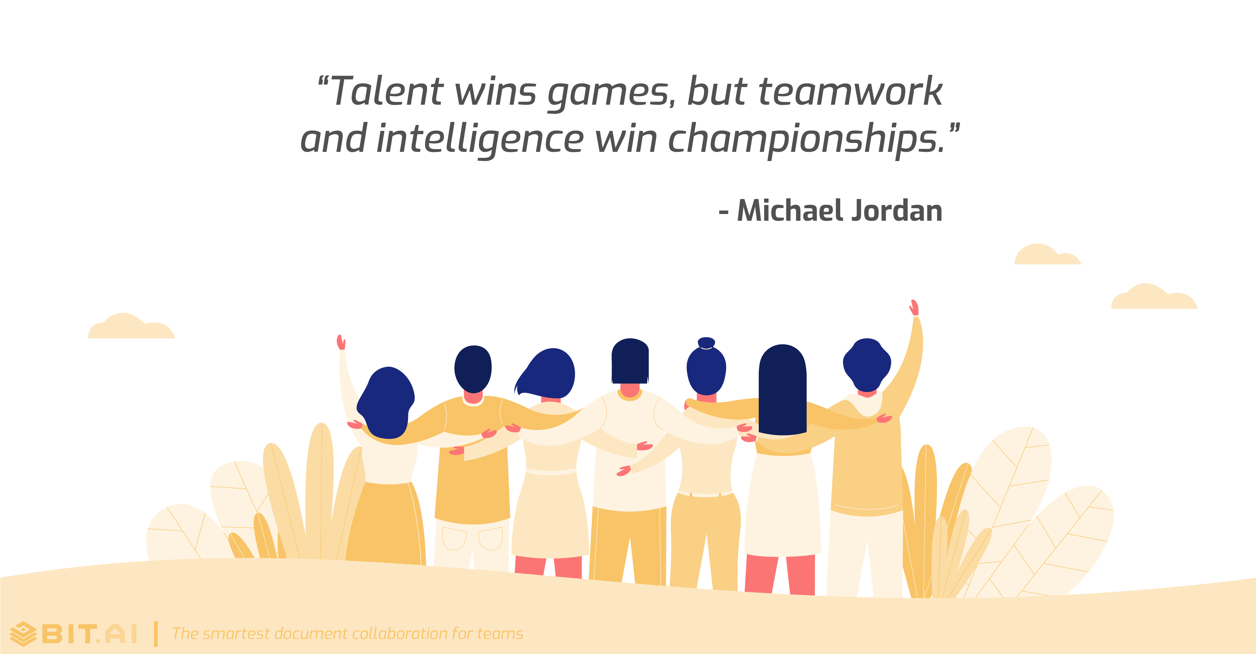 Teamwork collaboration quote by Michael Jordan