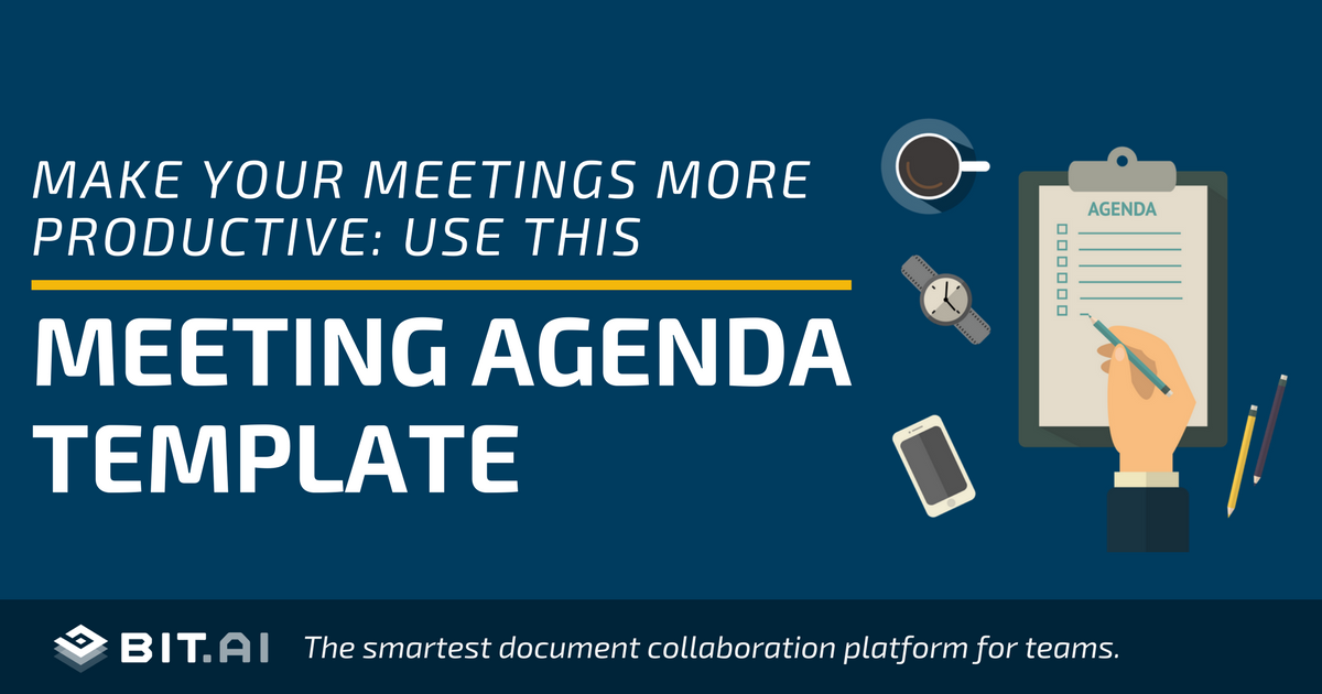 meeting agenda template how to create an effective agenda