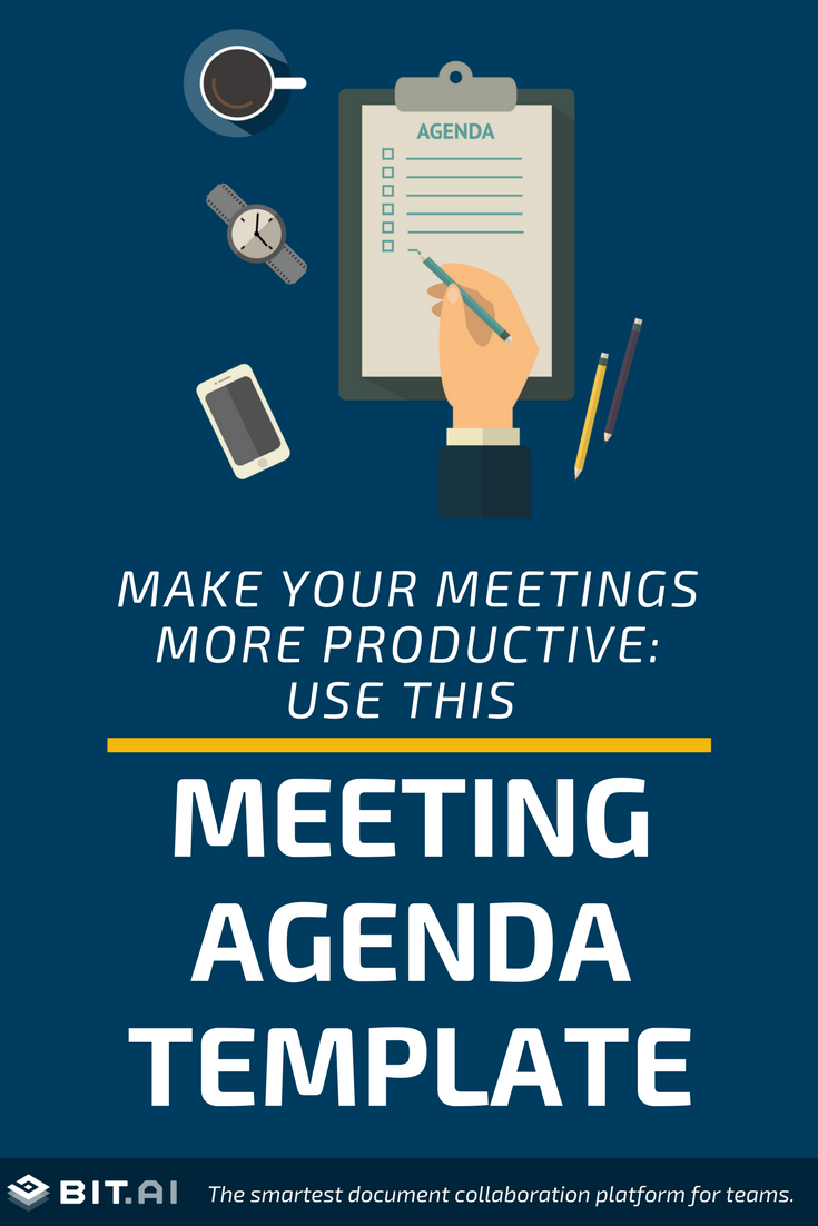 Make Your Meetings More Productive: Use this Template