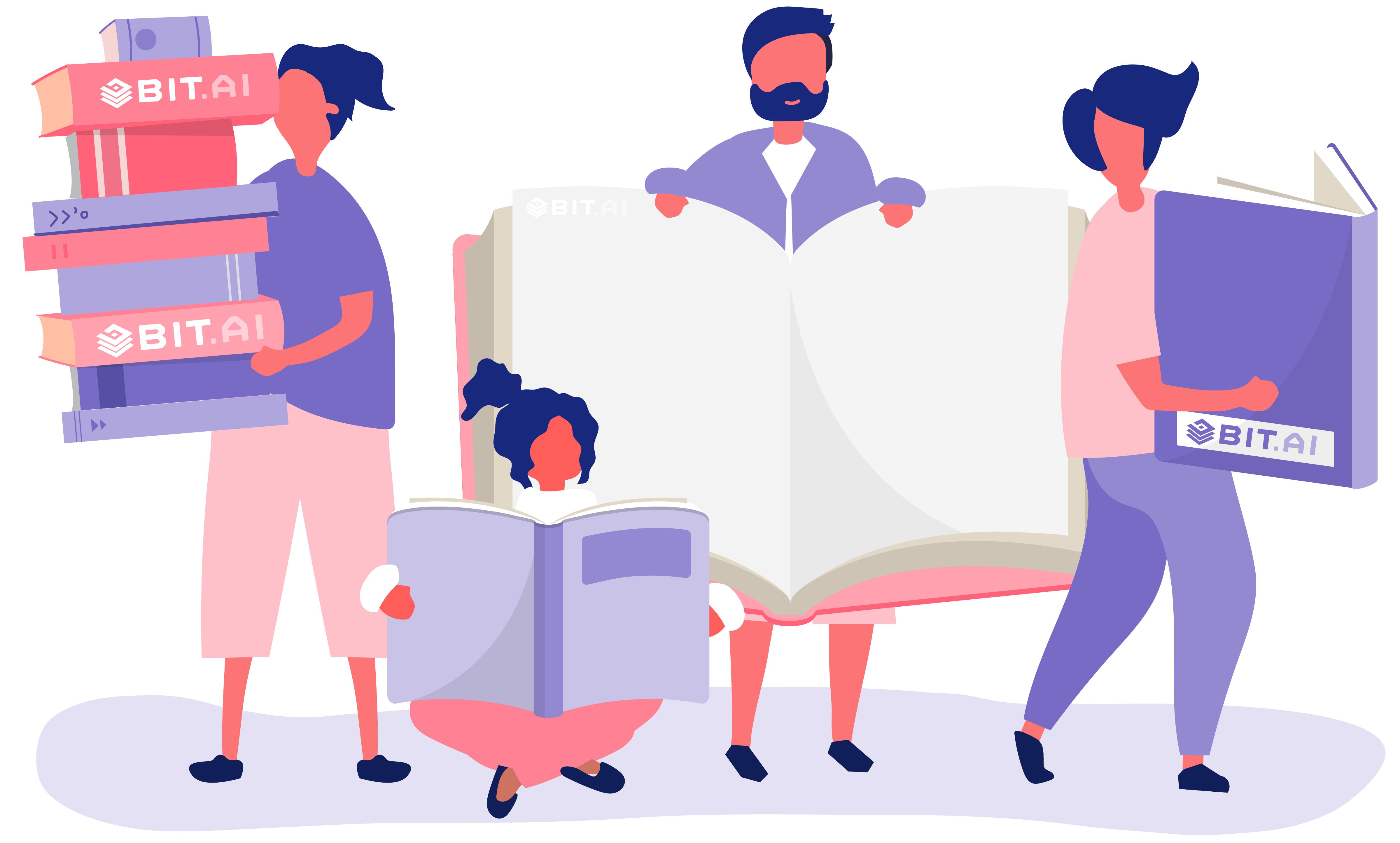 Knowledge books representing internal wiki