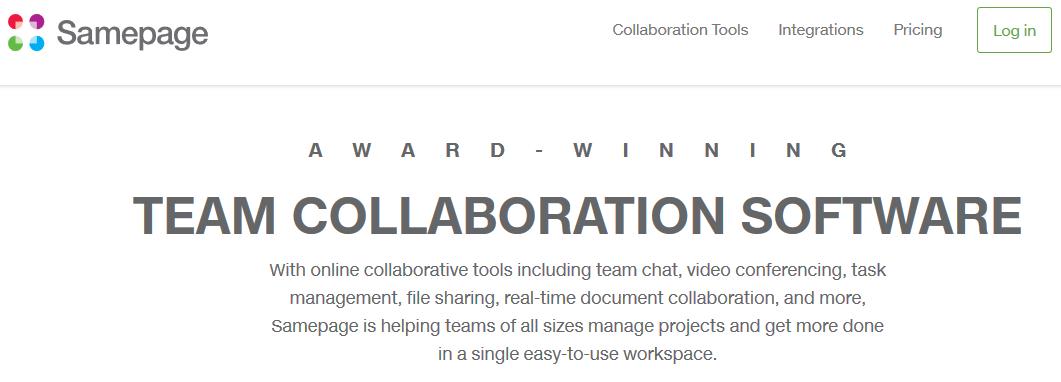 Samepage software as an alternative to sharepoint