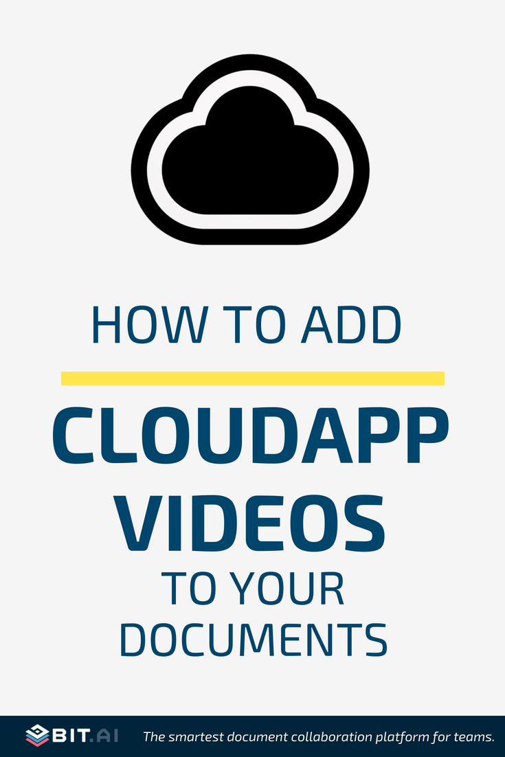 How to Add Cloudapp Videos to Your Documents - CloudApp (PIN)