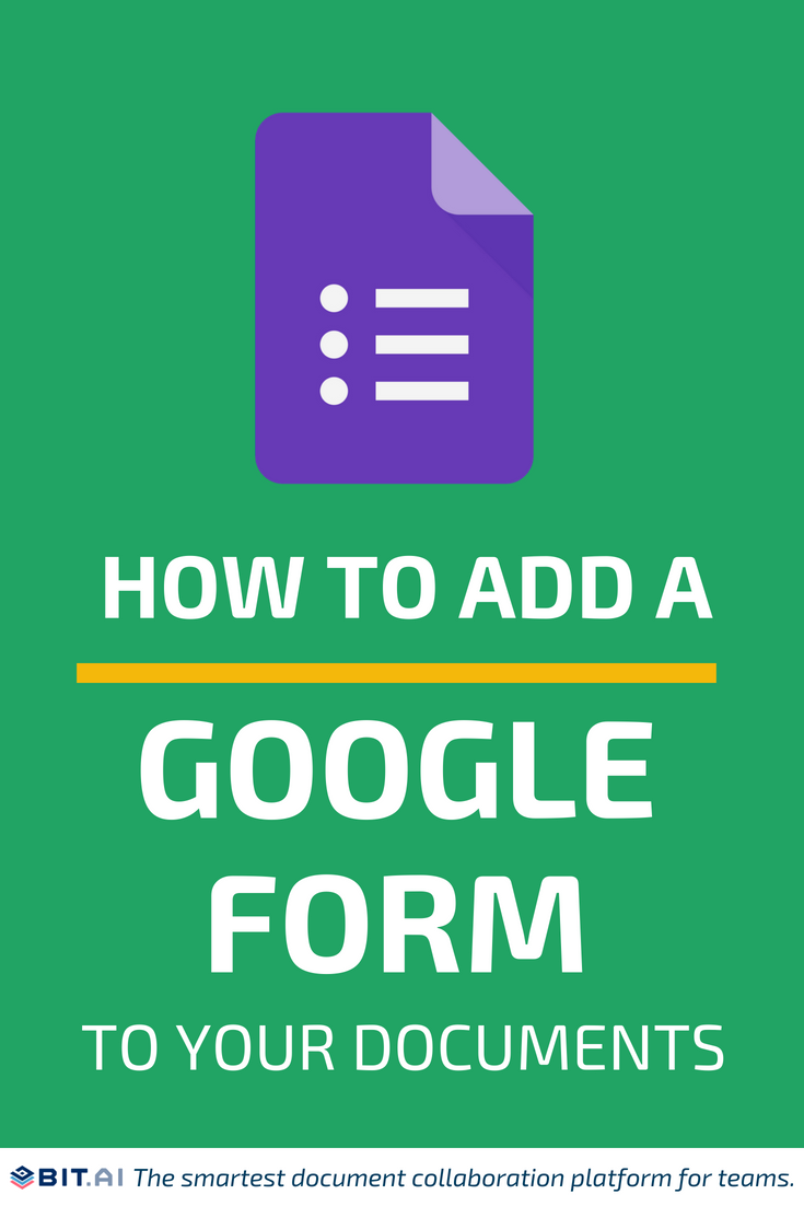 How to Add a Google Form to Your Documents - Google Forms (PIN)