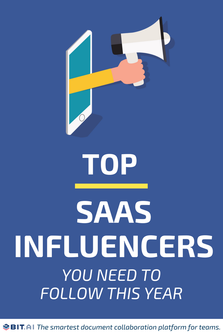 Top SaaS Influencers You Need To Follow This Year - Top SAAS Influencer (PIN)
