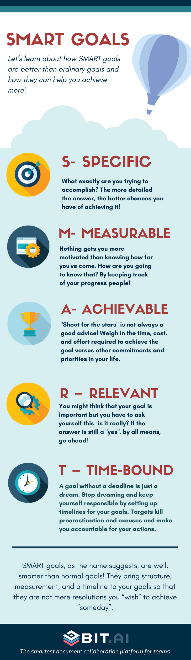 How to Achieve Your Objects by Setting SMART Goals-Smart Goals Infographic