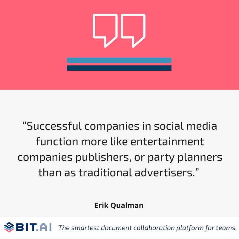 Social media quote by Erik Qualman