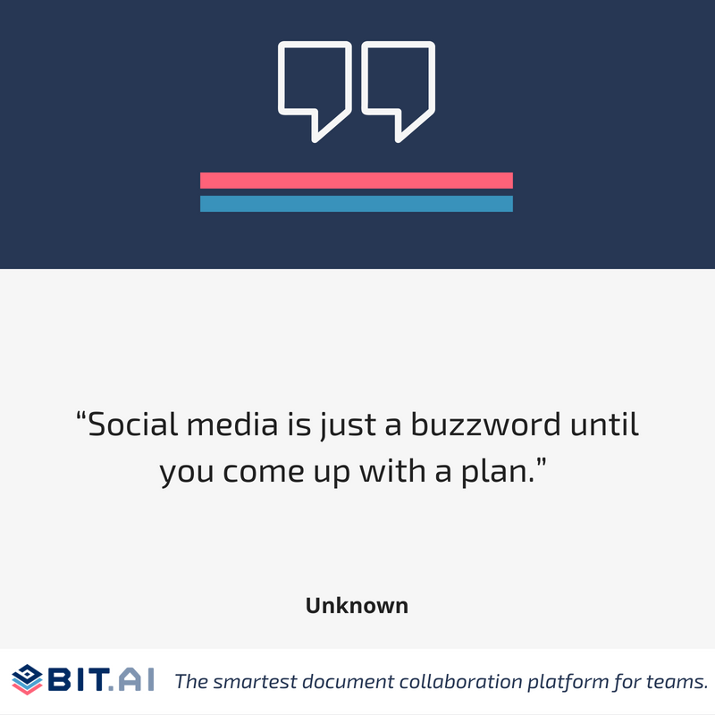 Social media quote infographic
