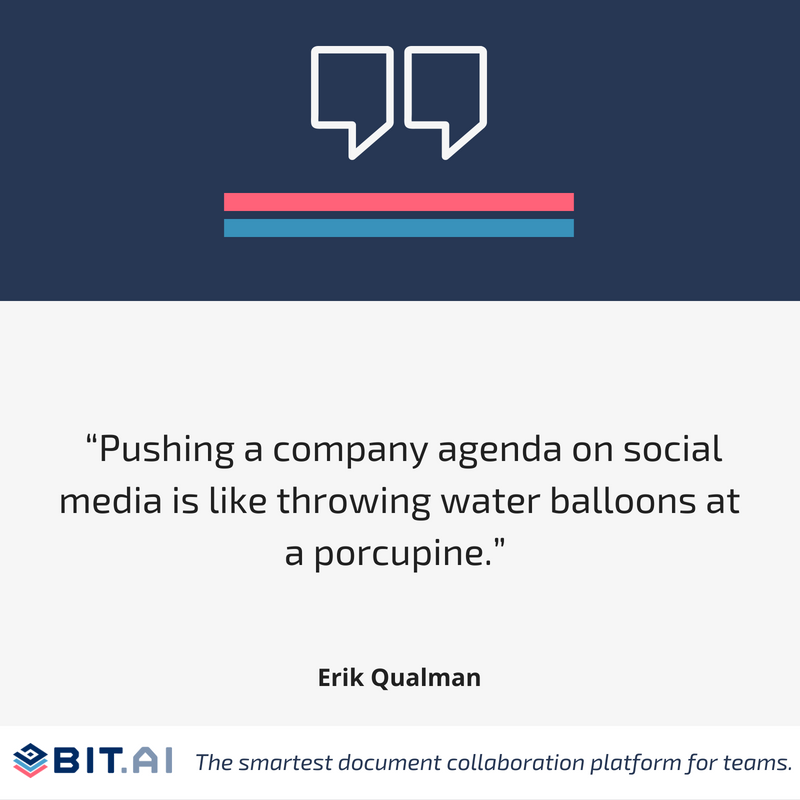 Quote on social media by Erik Qualman