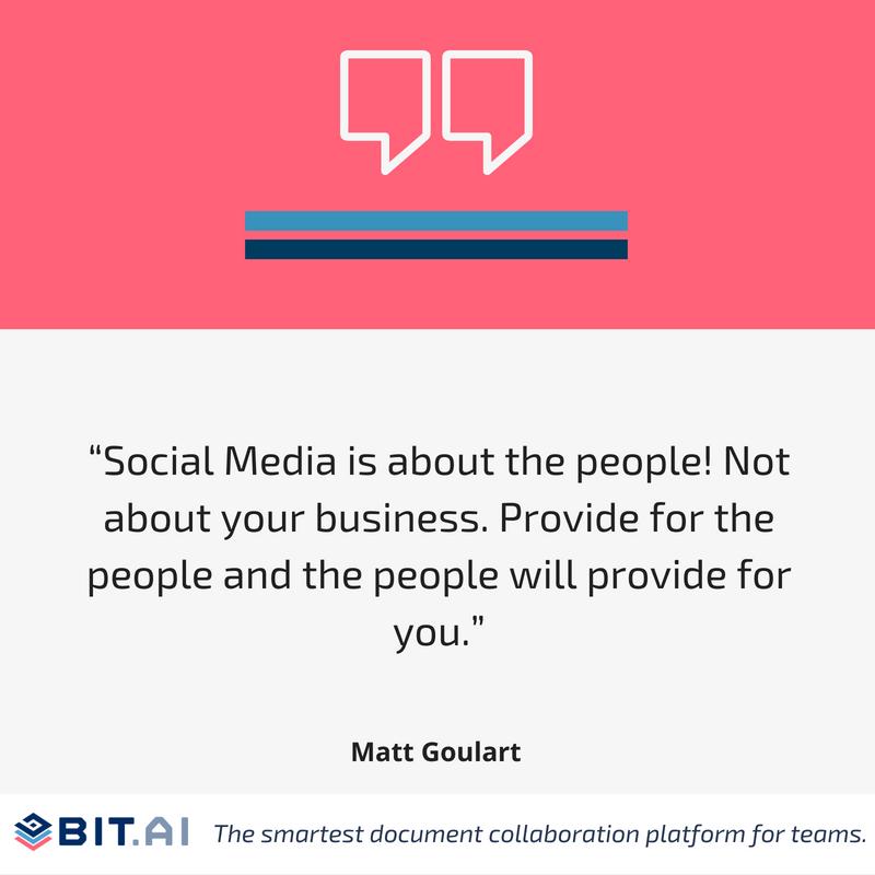 Social media quote by Matt Goulart