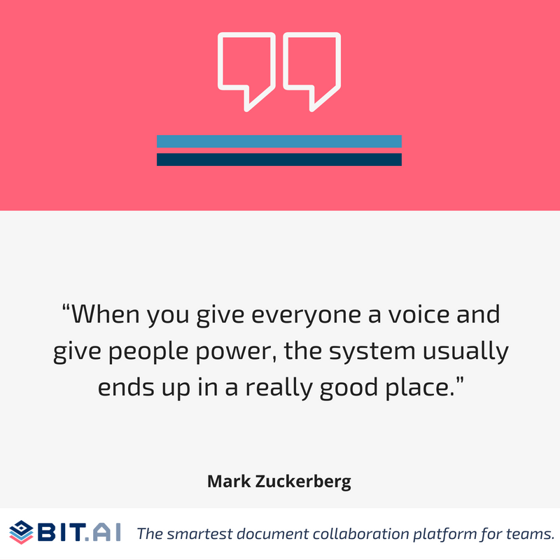 Social media quote by Mark Zuckerberg