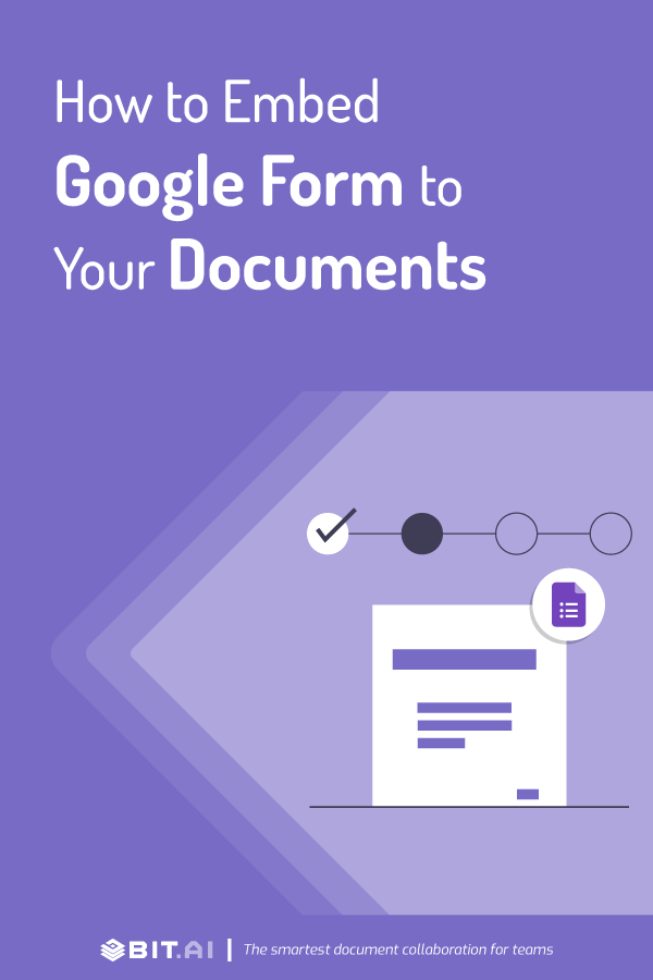 How to embed Google form to documents - Pinterest