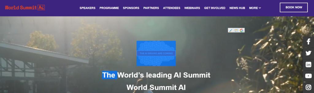 World summit ai: Tech summit