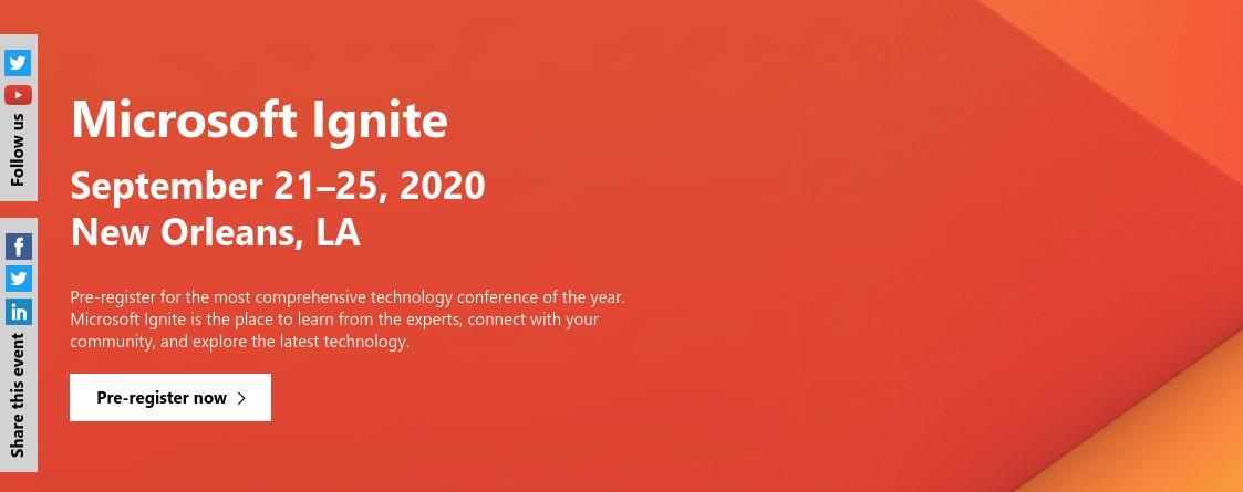 Microsoft ignite: Tech summit