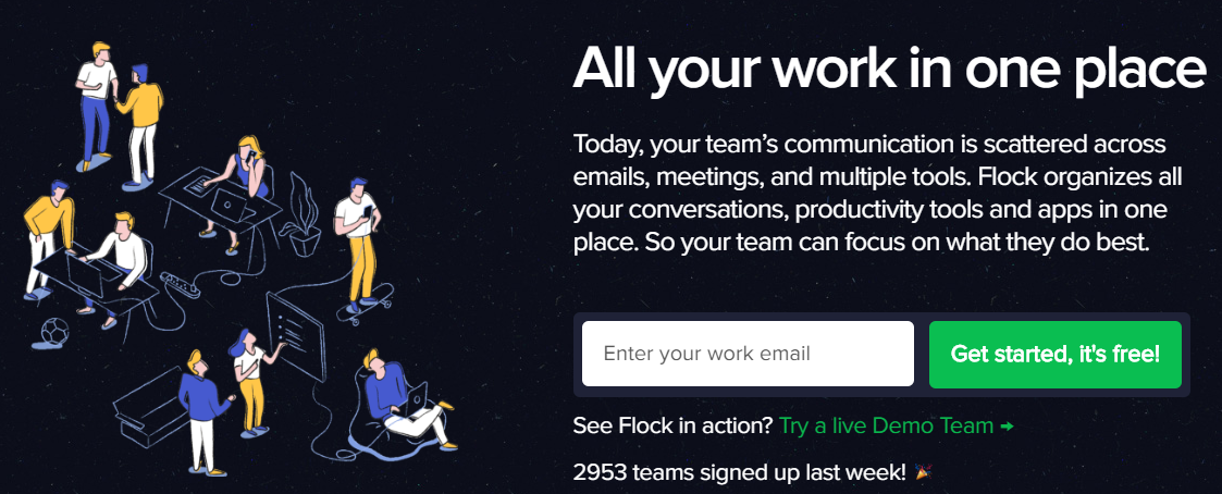 Flock: Online collaboration tool