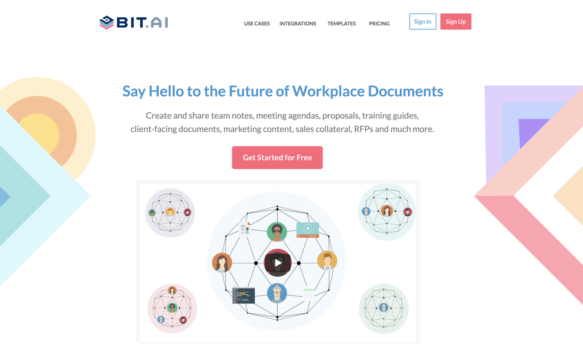 Bit.ai: Design collaboration and note taking tool