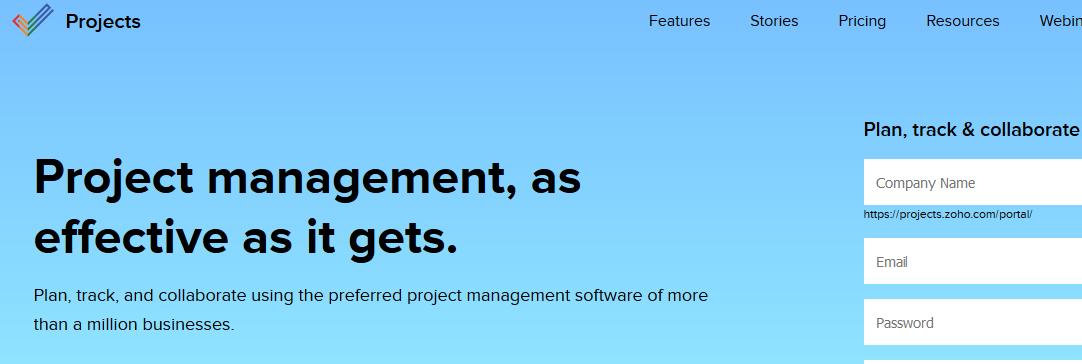 Zoho projects: Online collaboration tool and project planning software