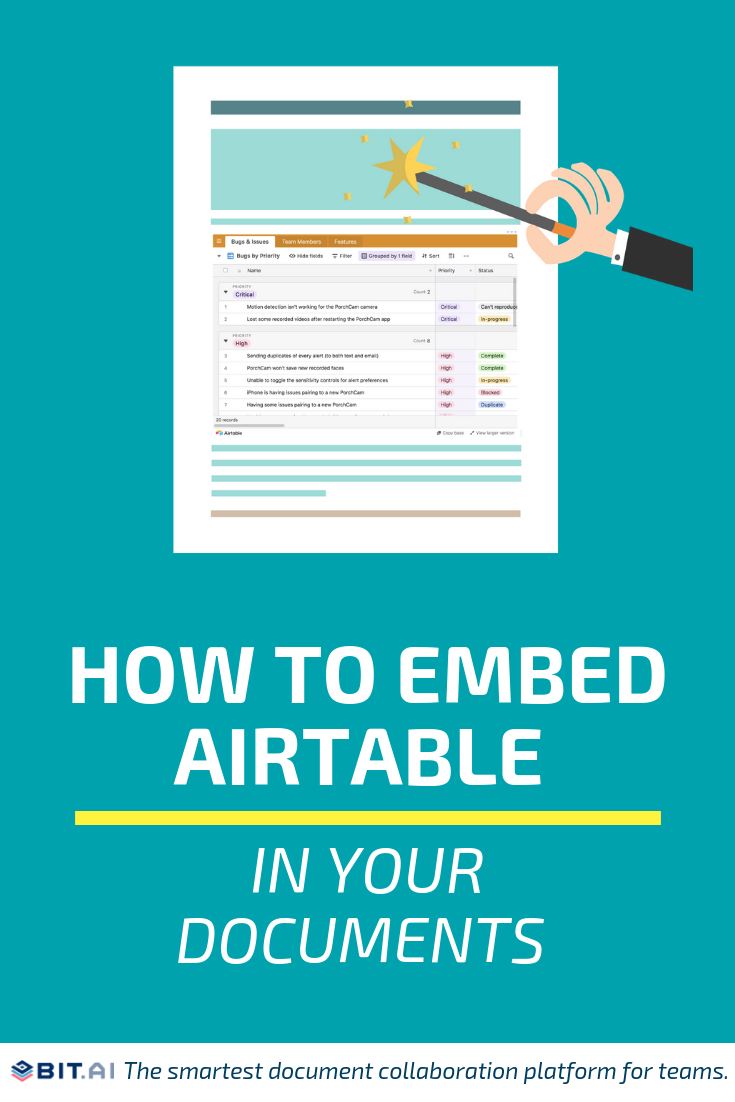 How to Embed Airtable in Your Documents - Airtable (Pin)