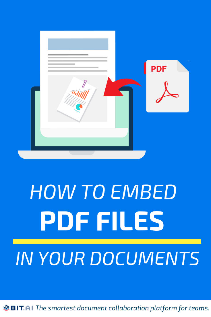 How to Embed PDF Files in Your Documents - Embed PDF Files (Pin)