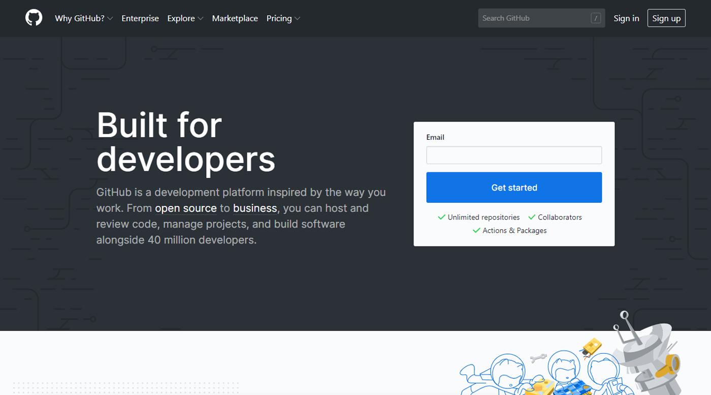 GitHub dashboard