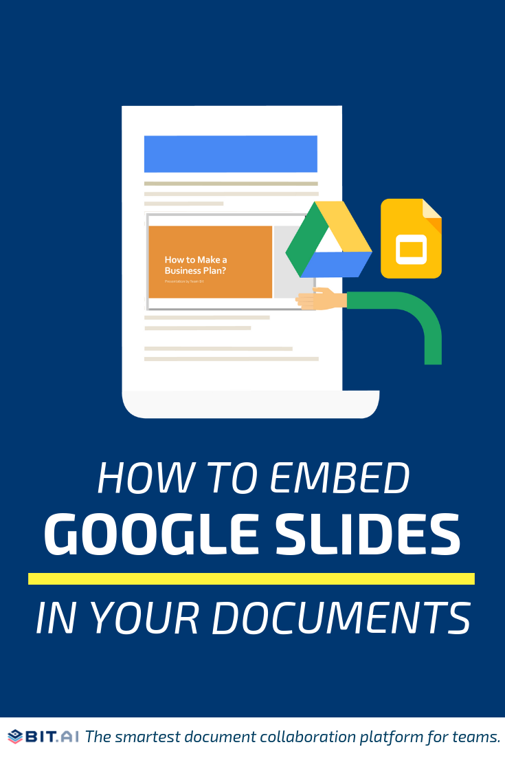 How to Embed Google Slides Within Your Documents - Google Sheets (Pin)