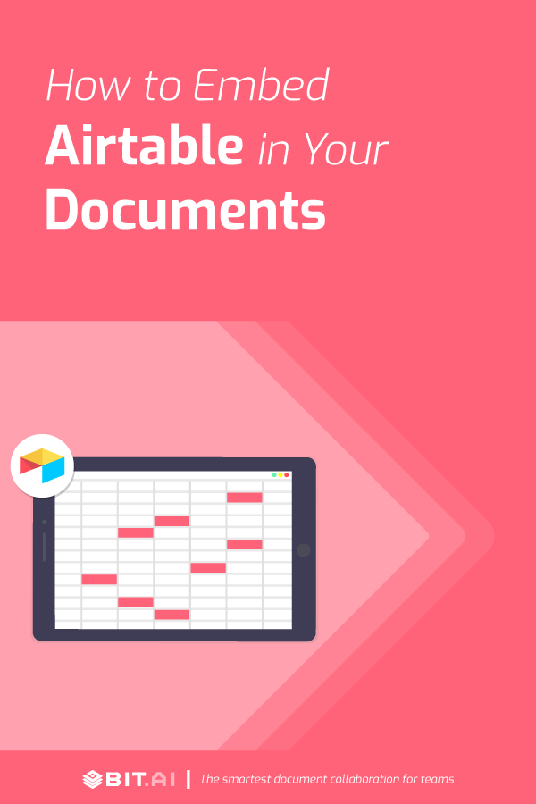 How to embed airtable in your documents - Pinterest