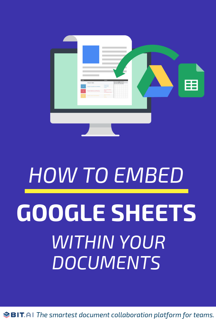 How to Embed Google Sheets Within Your Documents - How to embed google docs (pin)