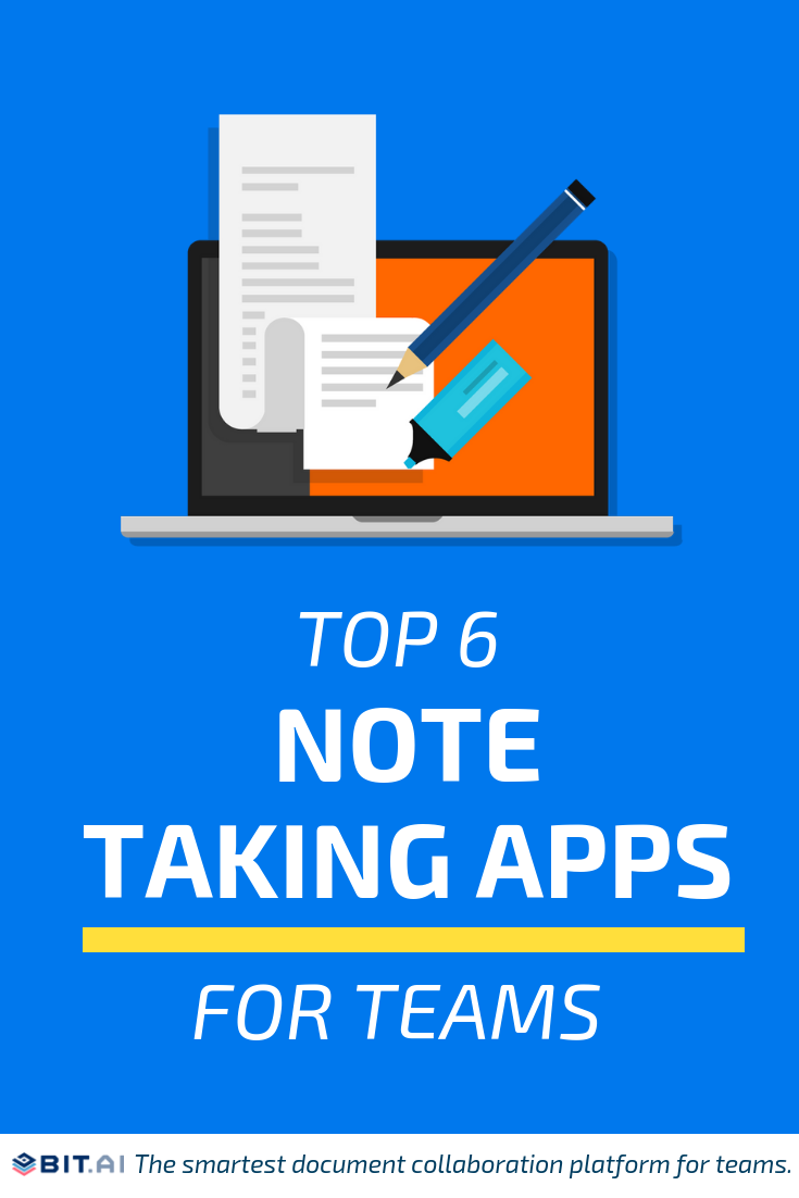 Top 6 Note Taking Apps for Teams