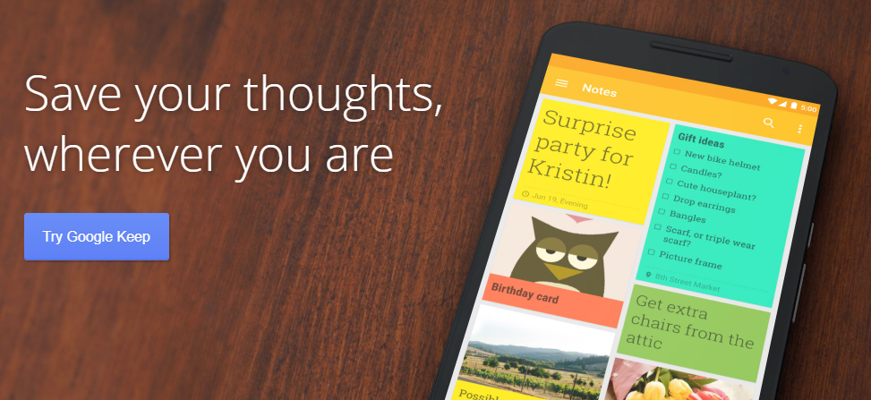 Google Keep: Note taking app