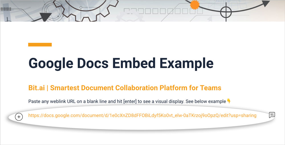 Embed google docs in your bit document