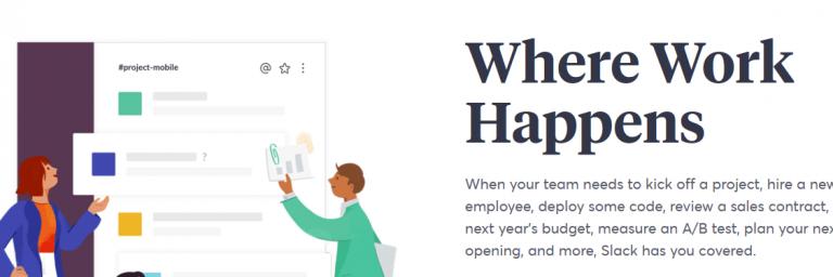 Slack: Online collaboration tool