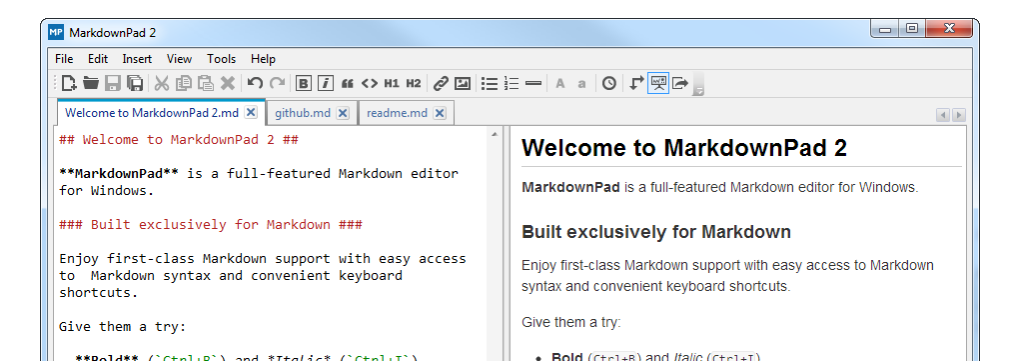 MarkdownPad: Software documentation tool