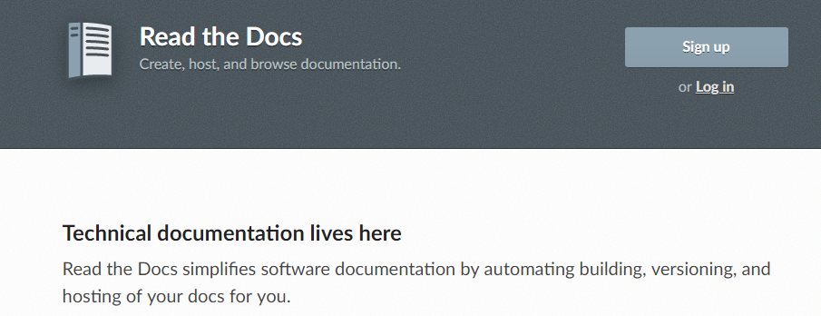 ReadtheDocs: Software documentation tool