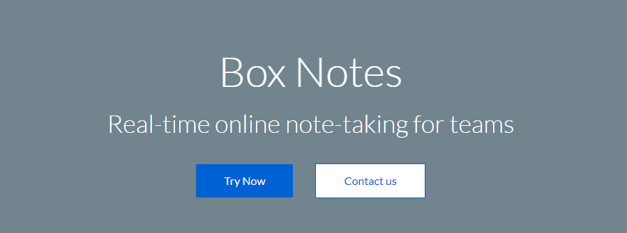 Box: Note taking app